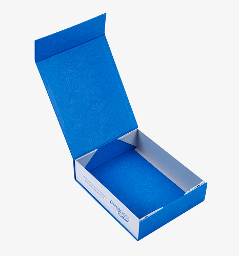 Blue And Side Printed Box
