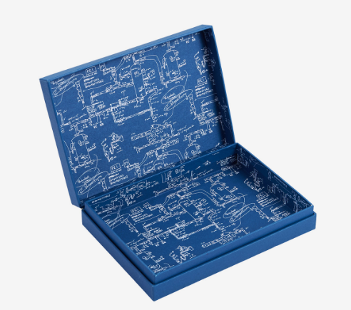 Blue Double Sided Print Box