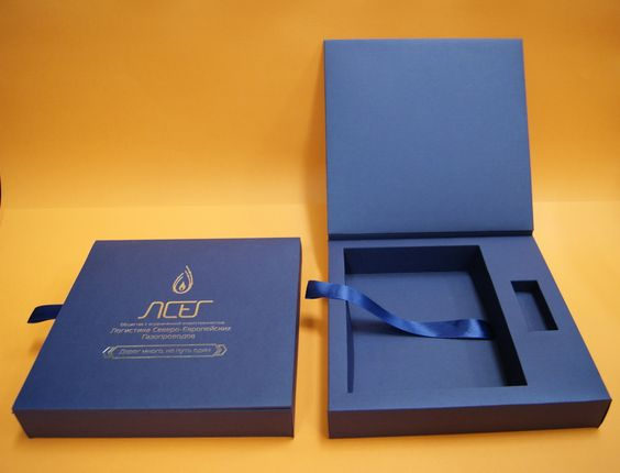 Book Style Closure With Ribbon Box