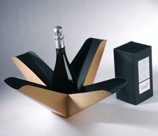 Kraft Paper Wine Bottle Box