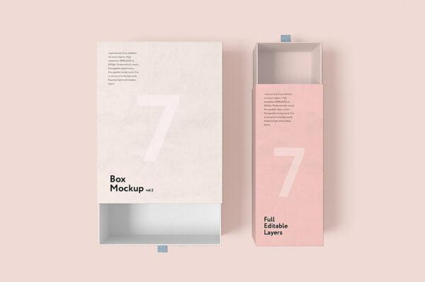 Multi Type Printed Pink Shade Box