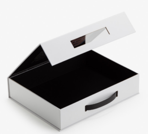 Plastic Handel Inner Black Printed Box