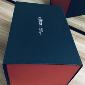 Red and Black- Collapsible box