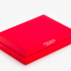 red-two piece box with insert