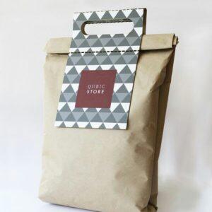 Custom Die Cut Handel Paper Bag (1)