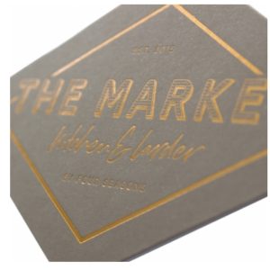 Gold Foil Printed Tag 1