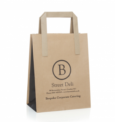 Kraft Paper Printed Carry Bag