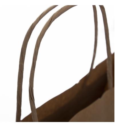 Printed Brown Twisted Handel Carry Bag