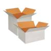 White Center Tape Corrugated Box